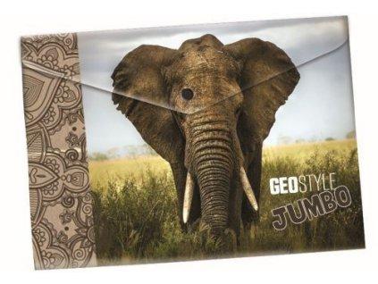 Obálka plastová s drukem slon