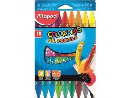 Olejové pastely Maped 18 ks