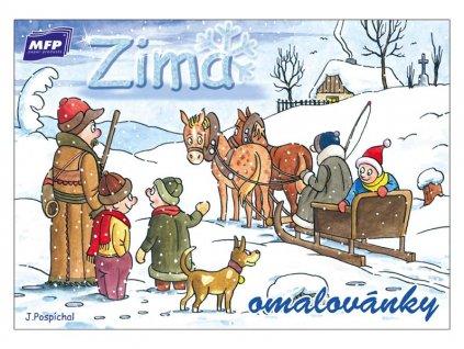 Omalovánky Zima