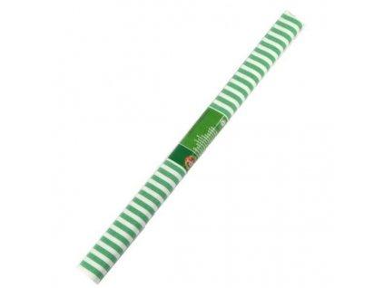 papir krepovy pruhovany bilo zeleny