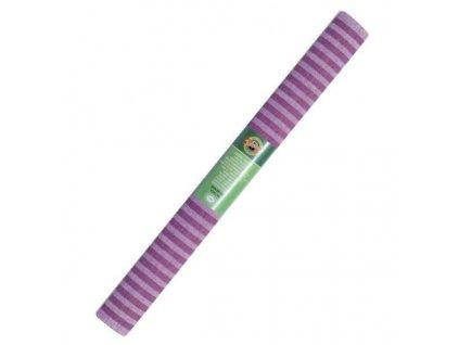 papir krepovy pruhovany fialovy