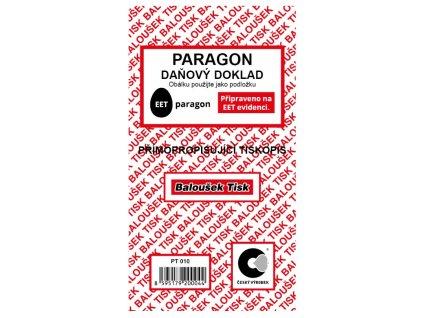 Paragon - daňový doklad samopr