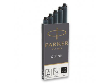 PARKER Inkoustové bombičky do plnících Per Parker -  černé