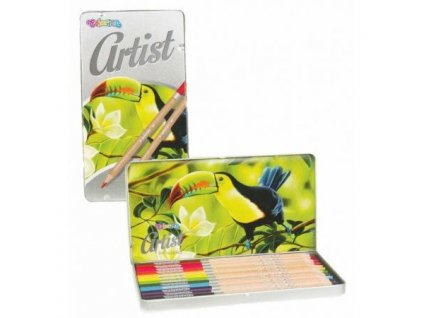 5907690883256 Pastelky Colorino Artist 12ks v kovové krabičce