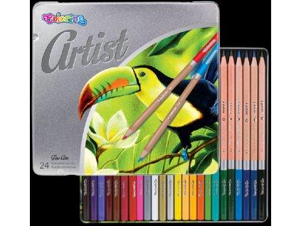 5907690883263 Pastelky Colorino Artist 24ks v kovové krabičce