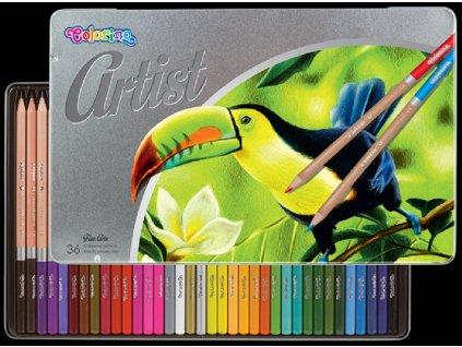 5907690883263 Pastelky Colorino Artist 36ks v kovové krabičce