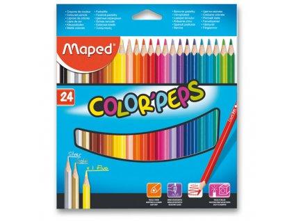 Pastelky Maped 24 ks trojhranné