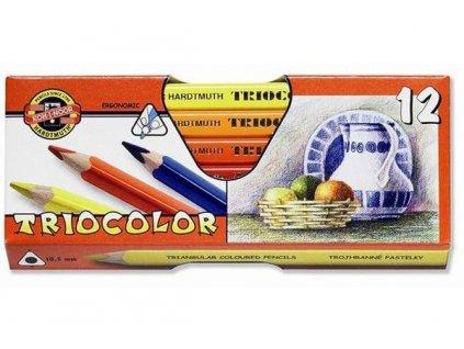 Pastelky TRIOCOLOR 12 ks lakované 3152 12