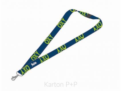 Klíčenka s karabinkou OXY BLUE LINE Green