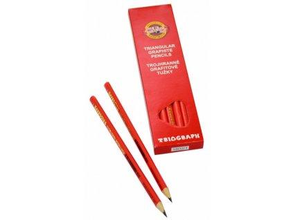 tužka grafitová 3HR TR 7 1802 1 červená trojhranná