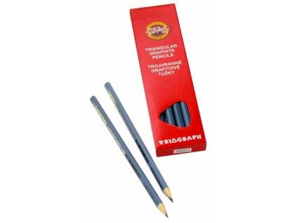 tužka grafitová 3HR TR 7 1802 2 šedá trojhranná