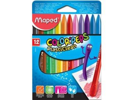 Plastové pastely voskové Maped 12 ks