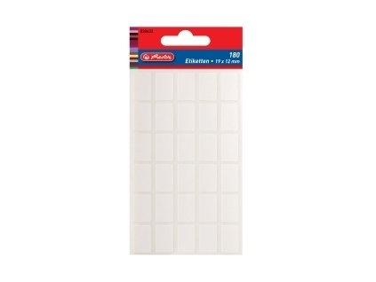 Etikety kancelářské bílé 19 x 12 mm