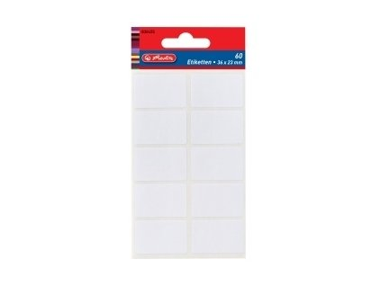 Etikety kancelářské bílé 35 x 24 mm