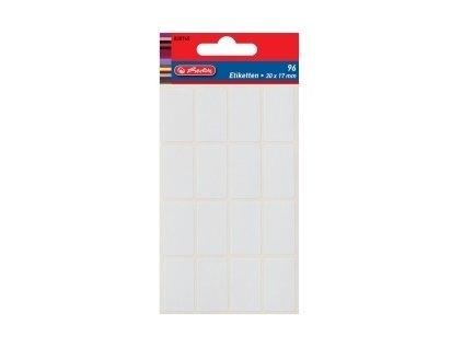 Etikety kancelářské bílé 17 x 26 mm