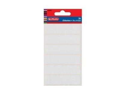 Etikety kancelářské bílé 82 x 21 mm