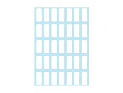 Etikety kancelářské bílé 8 x 20 mm