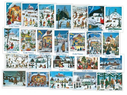 Pohlednice vánoční Josef Lada