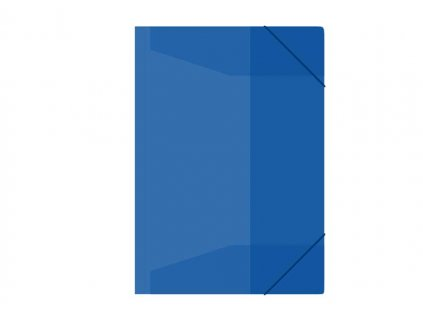 Složka s gumou M A4 modrá 3 klop.s gumou PP