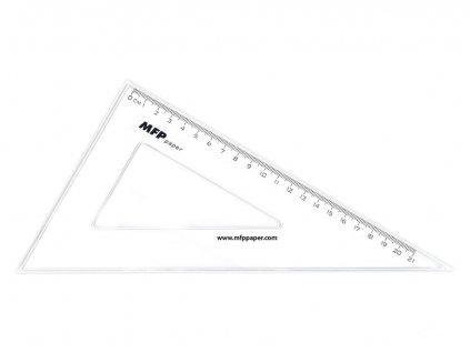 Pravítko trojúhelník 30-60 bez závěsu