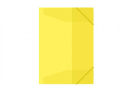 Složka s gumou M A4 žlutá 3 klop.s gumou PP ME100-1