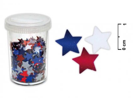 Konfety hvězdičky 25g mix barev