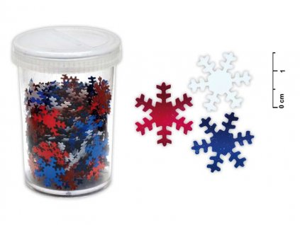 Konfety vločky 25g mix barev