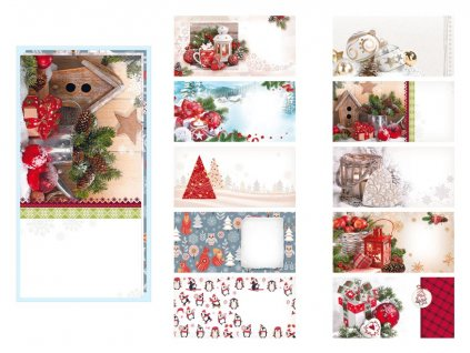 Dopisní obálka MFP DL vánoční (mix)