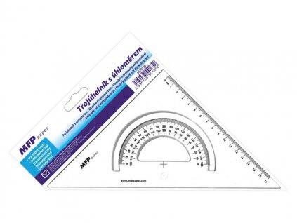 Pravítko trojúhelník s úhloměrem