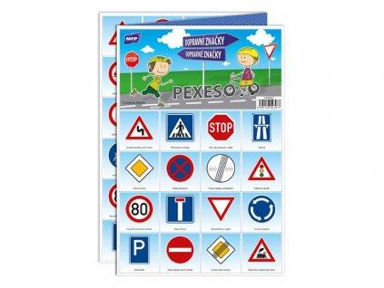Pexeso 3xA4 Dopravní značky