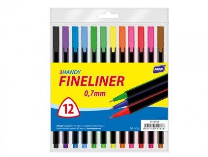 Popisovač FL 12 barev 0,7mm trojhranné
