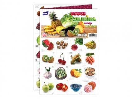 Pexeso 3xA4 Ovoce a zelenina
