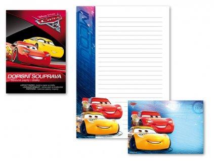 Dopisní papír barevný LUX 5+10 Disney (Cars)