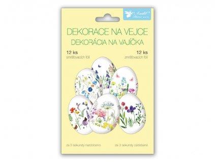 Velikonoční obtisk na vajíčka 835 košilky jemné květiny 12ks