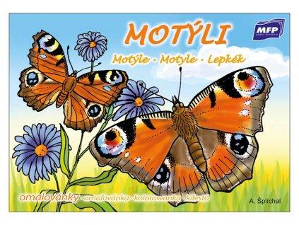 Omalovánky Motýli