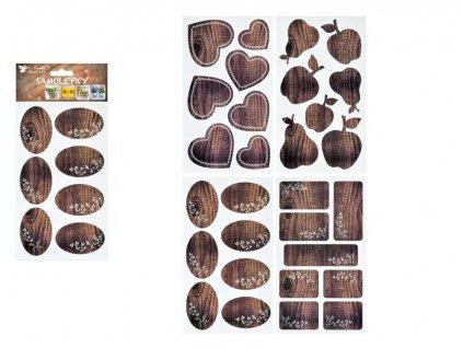 Samolepka 1161 na kořenky imitace dřeva 21 x 12 cm