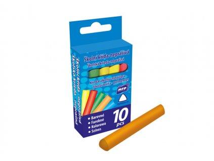 Křídy M barevné trojhranné 10ks v krabičce neprášivá