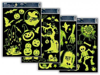 Okenní fólie halloween svítící HA002 30x42cm