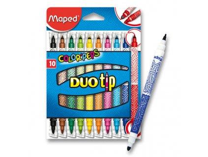Popisovače fixy Maped 10 ks Duo