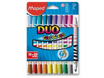 Popisovače fixy MAPED ColorPeps Duo 20 barev