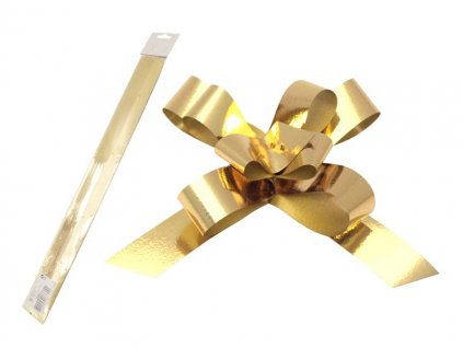 Stuha stahovací zlatá metal 2/50