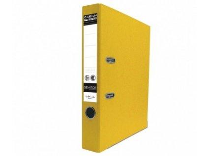 Pořadač pákový A4 Senator 5 cm žlutý