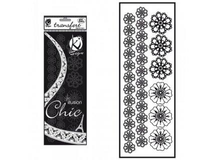 samolepka fleurs crochet