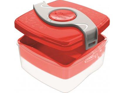 Picnik krabicka na svacinu cervena