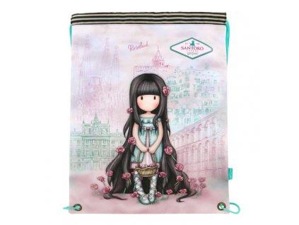 santoro gorjuss 479gj10 cityscape drawstring bag rosebud 1