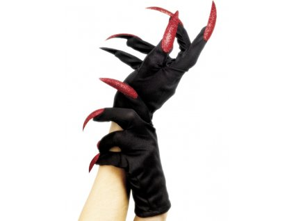 5020570252178 cerne rukavice s cervenymi nehtami 25217