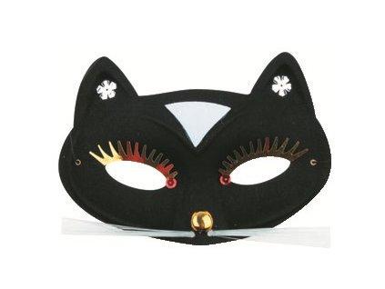 Škraboška kočka černá