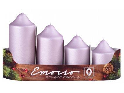 Svíčky stupňovité 50mm/4ks starorůžové