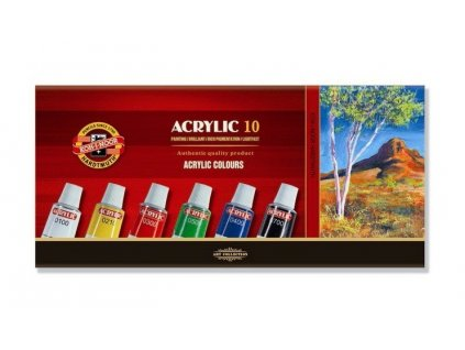 Barvy acrylové 10ks