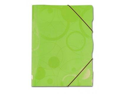 """Složka A4 s gumou 3 klopy """"Neo Colori"""" zelená"""